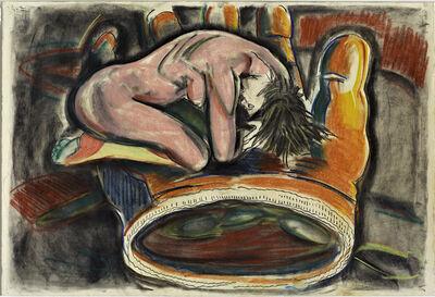 Viola Frey, 'Untitled (Pink Woman, Orange Glove)', 1986-1987