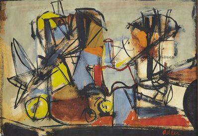 Jankel Adler, 'Untitled composition'