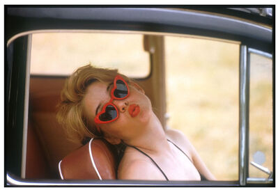 "Bert Stern, 'Sue Lyon as ""Lolita"" (in car)', 1960"