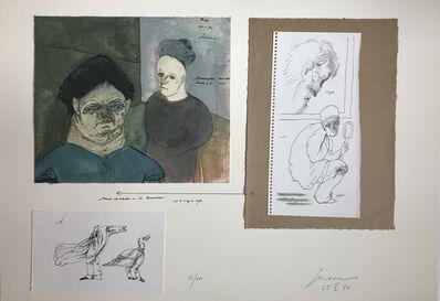 Jose Luis Cuevas, 'Pared de estudio en « La Renaudière »', 1976