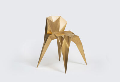 Zhoujie Zhang, 'Heart Chair (SQN1-F2B) Brass', 2014