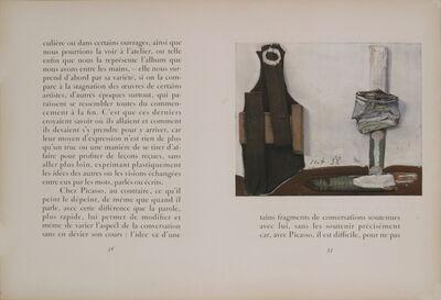 Pablo Picasso, 'Bouteille et Vitre', 1938