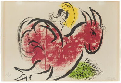 Marc Chagall, 'Le Coq Rouge', 1952