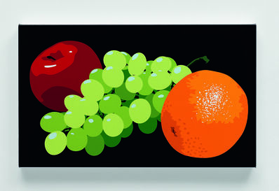 Julian Opie, 'Still life with orange, grapes and red apple', 2001