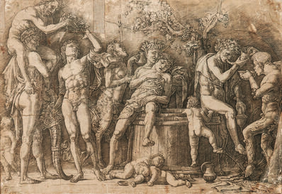 Andrea Mantegna, 'Bacchanal with a Wine Vat', early 1470