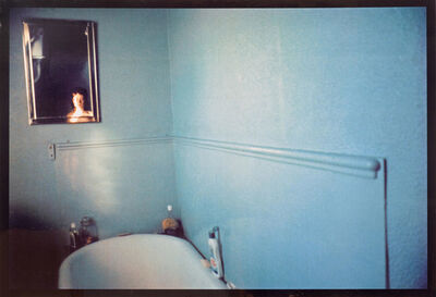 Nan Goldin, 'Self-portrait in blue bathroom, London', 1980