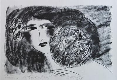 Walasse Ting 丁雄泉, 'Portrait de Femme', 1989