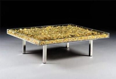 Yves Klein, 'YK Feuilles d'or table ', 2018