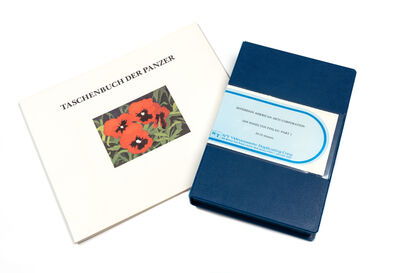 Ian Hamilton Finlay, 'Taschenbuch der Panzer, 1981 together with Ian Hamilton Finlay: Part 1 videocassette'