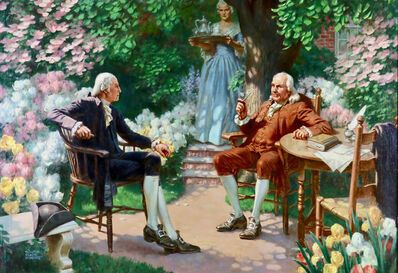 Walter Beach Humphrey, 'George Washington & Ben Franklin', 20th Century