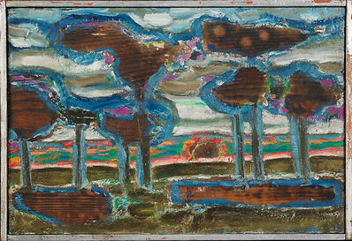 William Pellicone, 'Trees and Setting Sun', 1962
