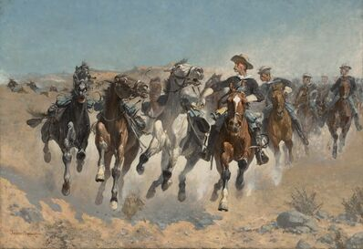 Frederic Remington, 'Dismounted: The Fourth Troopers Moving the Led Horses', 1890