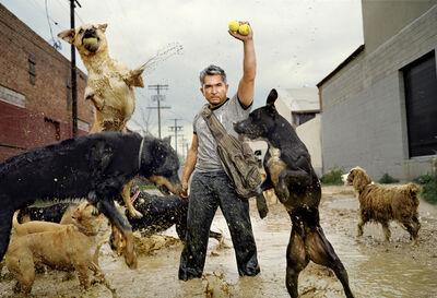Martin Schoeller, 'Cesar Millan with his Dogs', 2006