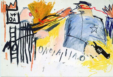 Jean-Michel Basquiat, 'Basquiat at Bruno Bischofberger 1993 (announcement) ', 1993