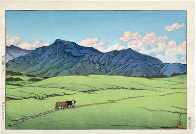 Kawase Hasui, 'Dusk at Aso, Outer Crater', 1948