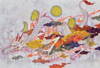 Koki Tsujimoto, 'Auspicious White Dragon painting: Getsuhyou-zu', 2019