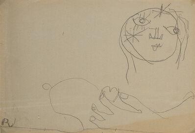 Osvaldo Licini, 'Amalassunta con a mano cuore', 1949