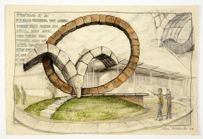Ilan Averbuch, 'Proposal 2, for HH Ellis High School (sketch for realized public art sculpture)', 2008