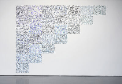 Spencer Finch, '8456 Shades of Blue (After Hume)', 2008