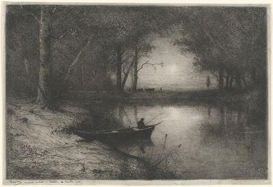 Adolphe Appian, 'Pêcheur en Canot, au bord d'une Rivière (Fisherman in a Boat)', 1887