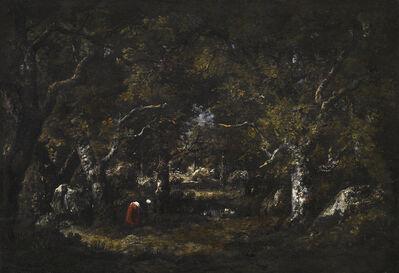 Narcisse-Virgile Diaz de la Peña, 'Vieux Chenes, Rochers, Fagotiere et Petite Mare', 1859