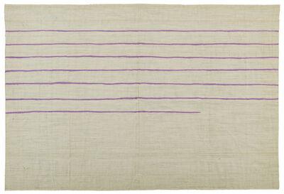 Giorgio Griffa, 'Linee orizzontali', 1973