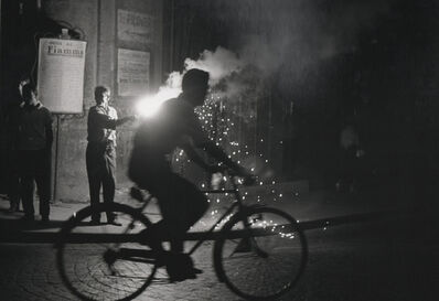 Sabine Weiss, 'Velo nuit Naples (Bicycle at night in Naples) ', 1955