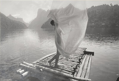 Tran Huy Hoan, ''Lady on Raft', Framed Black & White Photograph, Female Figure', 2018