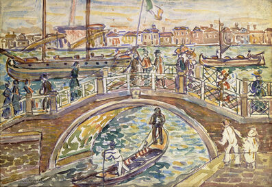 Maurice Brazil Prendergast, 'Bridge at Venice', 1911-1912