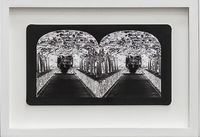 Penelope Stewart, 'Ruin Gazing Vol 1, paradise gardens - No: 028 - Orangery at Lotusland, framed stereoscopic cards created by artist', 2015