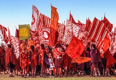 Carol Beckwith and Angela Fisher, 'Salei Maasai Warriors Approach the Ceremonial Manyatta, Tanzania', 2006