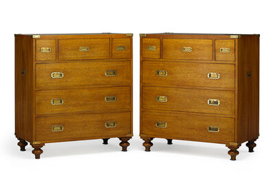 Ralph Lauren, 'Pair Of Ralph Lauren Mahogany Campaign Chests', 20th c.