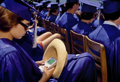 Lauren Greenfield, 'Commencement ceremony at Crossroads School, Santa Monica', 1995