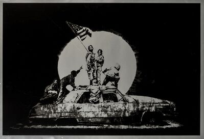 Banksy, 'Silver Flags', 2006