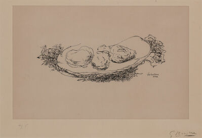 Georges Braque, 'LES HUÎTRES (VALLIER 85)', 1953
