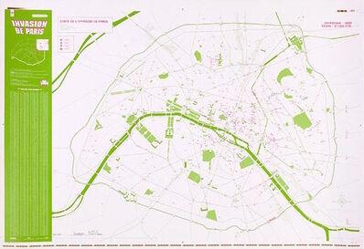 Invader, 'INVASION MAP OF PARIS 2.0 - INVADER', 2011