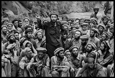 Steve McCurry, 'Mujahideen Leader Speaks to Fighters, Afghanistan', 1990