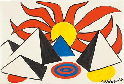 Alexander Calder, 'Composition (Pyramids and Sun on Target)', 1973