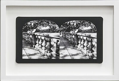 Penelope Stewart, 'Ruin Gazing Vol 1, paradise gardens - No: 010 - Bridge in Central Park, framed stereoscopic cards created by artist', 2015