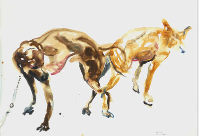 Tawan Wattuya, 'Two dogs 3', 2016