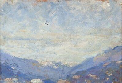 Arturo Tosi, 'Montagne in azzurro', late 1910s