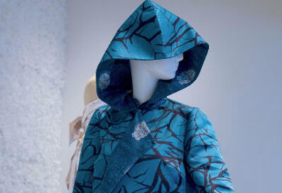 Yue Minjun, 'Brushstroke Detail (exterior); Signature Face (interior)'