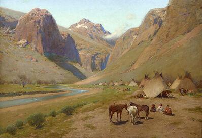 Henry F. Farny, 'Indian Encampment', 1911