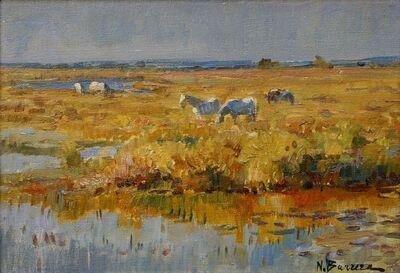 Nicolai Barrera, 'Horses in the Camargue'