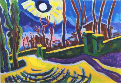 Karl Schmidt-Rottluff, 'Weg in Ascona', 1950