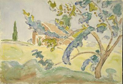 Allen Tucker, 'Tree and Barn', Date unknown