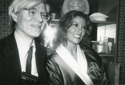 Bob Colacello, 'Andy Warhol Backstage with Raquel Welch, Interview Cover Girl, After Her Performance in Broadway's Woman of the Year 1981', 1981