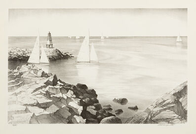 Stow Wengenroth, 'Race at Rockport', 1966