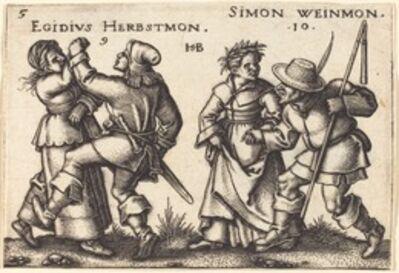 Sebald Beham, 'September and October', 1546/1547