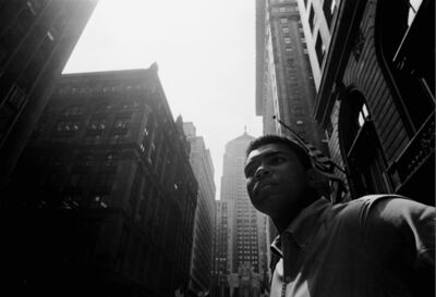Thomas Hoepker, 'Muhammad Ali walking downtown under Chicago's L', 1966